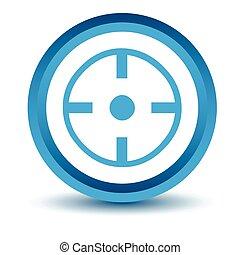 Blue target icon