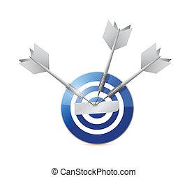 blue target illustration design