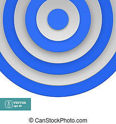 Blue Target on white. Vector
