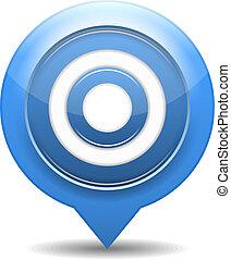 Blue target, vector eps10 illustration