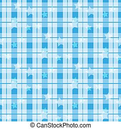 Blue Tartan with star seamless. Tartan, plaid pattern vector background. Folk Retro. Tartan pattern.