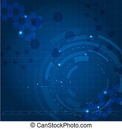 Blue tech background Vector illustration for your design