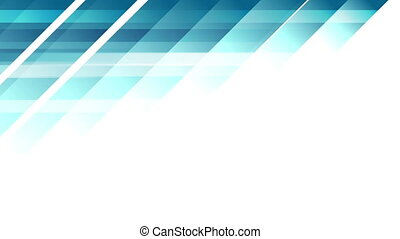 Blue tech minimal geometric abstract motion background....
