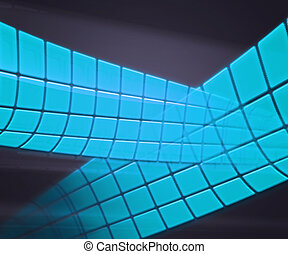 Blue Technology Background Squares