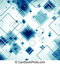 Blue technology background. Vector