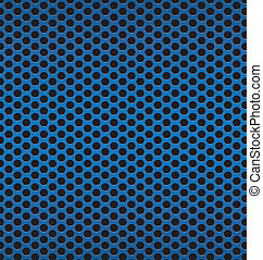 blue Technology background with black circle perforated carbon s