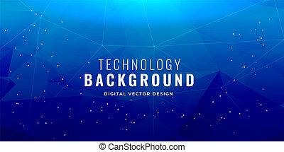 blue technology concept background design