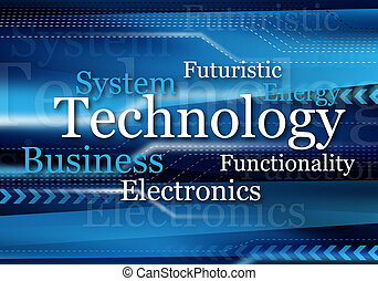 blue technology design for background