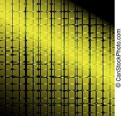 Blue technology grid background