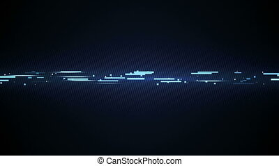 blue technology line loopable animation