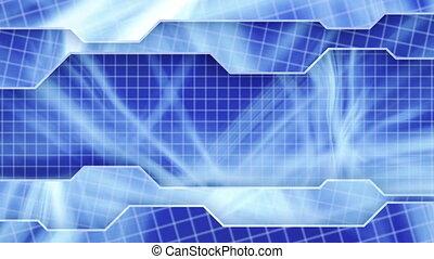 blue technology plates loop