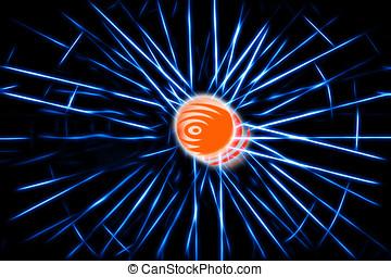 Blue teleportation rays illustration background hd