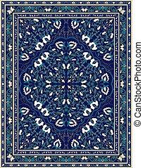 Blue template for carpet.