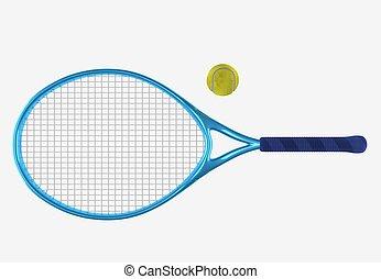 blue tennis racket