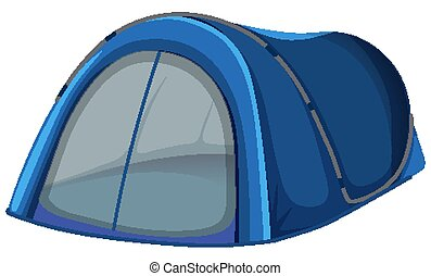 Blue tent on white background