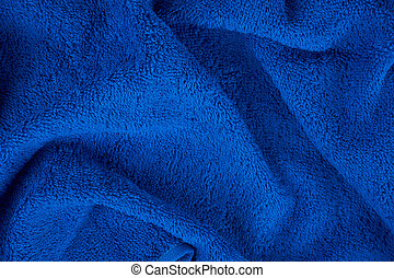 Blue terry towel as a useful background