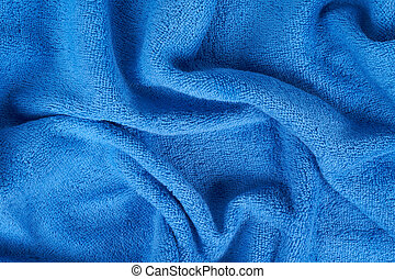 Blue terry towel as a usefull background