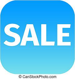 blue text sale icon