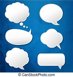 Blue Texture Background With Speech Bubble