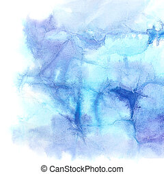 Blue texture of crumpled paper