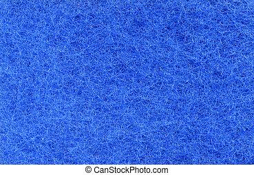 blue texture of foam rubber macro