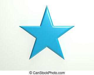 Blue textured star icon