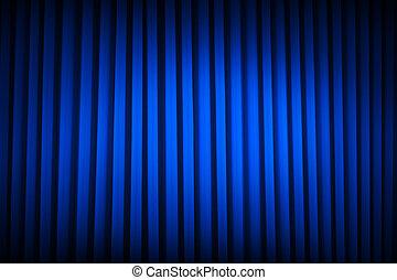 Blue Theater Curtain - Blue Velvet Movie Curtains Dim Lit...