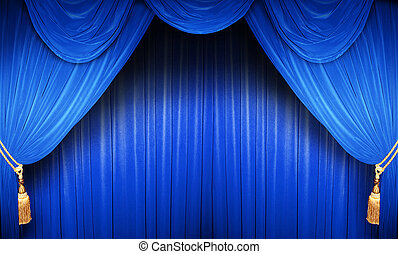 Blue Theatre Curtain
