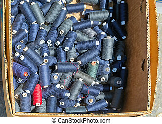 Blue Thread Spools