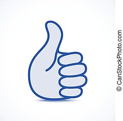 Blue thumb up icon