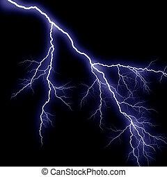 blue thunder on black background