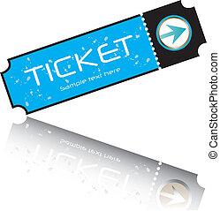 blue ticket vector