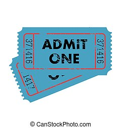 Blue Tickets on a white background