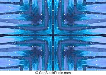 Blue tie dye like pattern