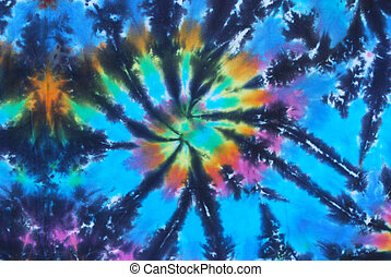 Blue Tie Dye Pattern - Blue tie dye pattern on fabric.