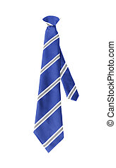 blue tie isolated on white background