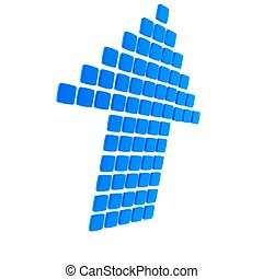Blue Tile Arrow