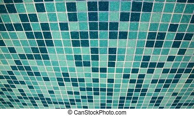Blue tile, dark and light, moving from up to down - Blue...