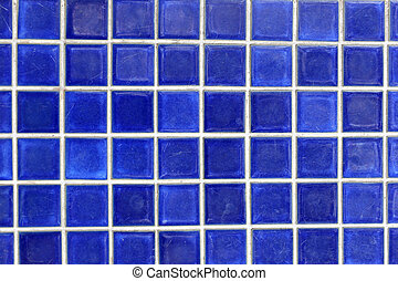 blue tile wall of square for the background.