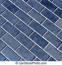Blue tiles give a harmonic pattern at the ground