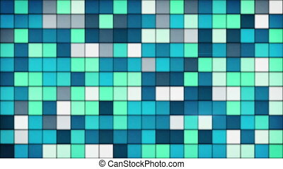 blue tiles glass mosaic seamless loop background