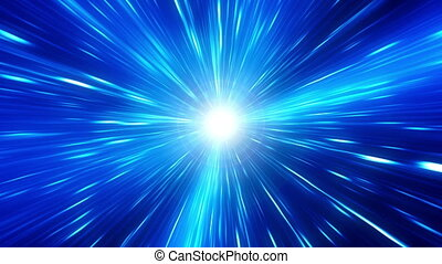 Blue Time Travel Looping Background - Blue Time Travel...