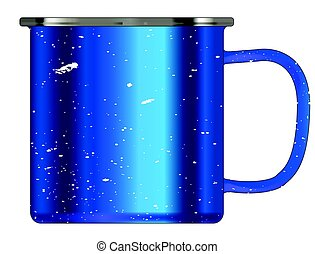 Blue Tin Cup