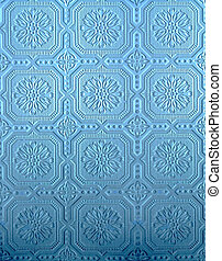 Blue Tin wall pattern - blue pressed tin wall pattern