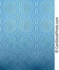 Blue Tin wall pattern - blue pressed tin wall pattern