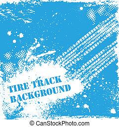 Blue tire track backgound - Grunge blue tire track...