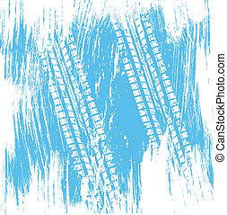 Blue tire track background - Grunge blue tire track...
