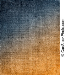Blue to Orange Cloth Background - Vintage cloth with a blue...
