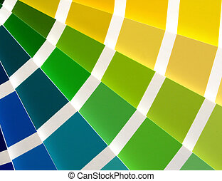Blue to Yellow - Color guide for selection with blue, green...