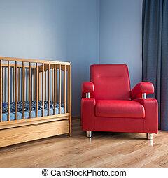 Blue toddler room idea
